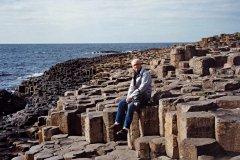 Basalt columns at Devil's Causeway, North Ireland,. Photo by author's wife.