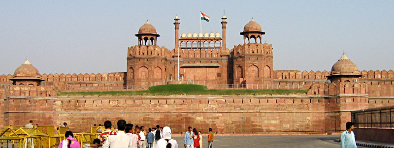 The Lal Qila, or Red Fort, in Delhi is built of red-bed sandstone. Photo by author's wife.