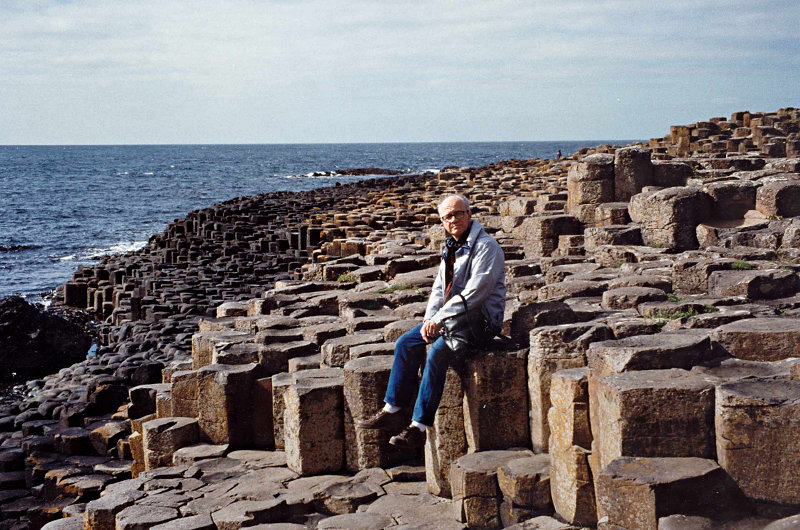 Basalt columns at Devil's Causeway, North Ireland,. Photo by author's wife.